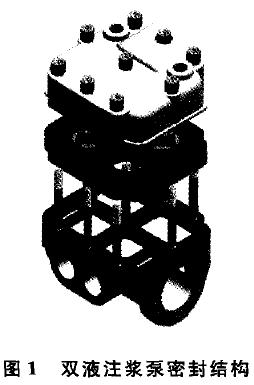 图1 双液注浆泵密封结构